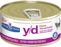 Hills Prescription Diet Y/D canned feline food
